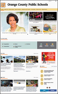 Orange County Public Schools has launched new modern website