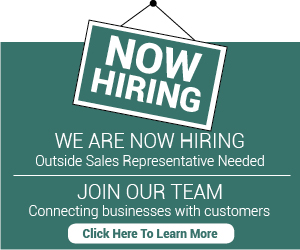Now Hiring Sales Rep