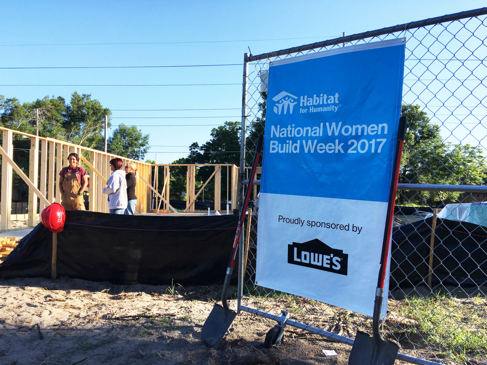 Women Volunteering to Build