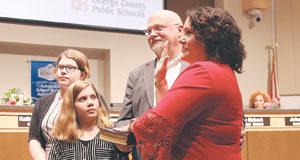 Melissa Byrd sworn in to Orange County School Board
