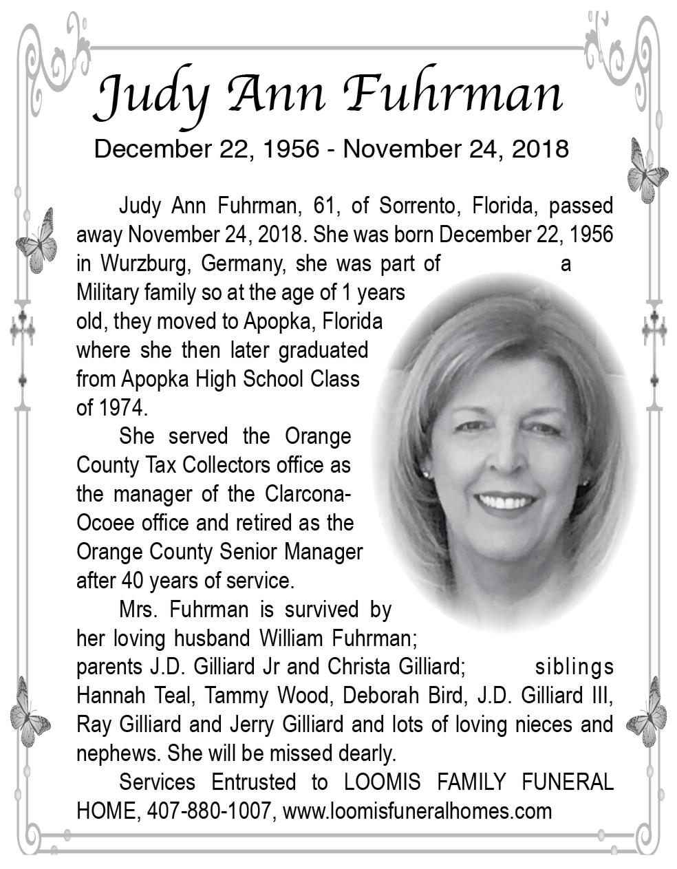 Judy Ann Fuhrman