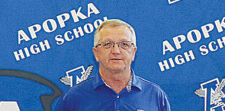 AHS athletic director Russell Wambles Apopka High statewide sportsmanship award FHSAA