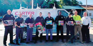 apopka Carter Electric Inc donates toys christmas 2019