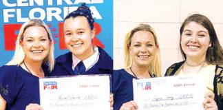 Apopka High School seniors Rachel Simmons and Alyssa Terry awarded Central Florida Fair scholarships