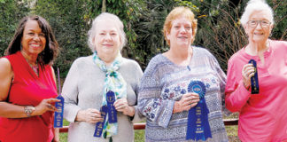 GFWC Apopka Woman's Club members first-place finishers in the GFWC District 7 art and craft competition